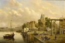 Gerardus Hendriks, A view of the Scheierstoren, Amsterdam