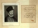 Gaetano Tubino, Portrait of King Charles IX of France (w/autograph, after Hans Holbein the Younger)
