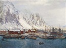 Karl Ouren, Winter in Svolvoer harbour