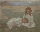 Garnet Ruskin Wolseley, Two young girls by the sea