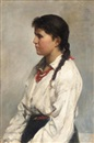 Nikolai Alexeievich Kasatkin, Portrait of a young girl