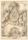 Willem Doudyns, Entwürfe für Standuhren (2 designs for clocks and 2 designs for ceilings, lrgr; 4 works))
