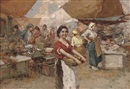 Giuseppe Pitto, A fruit seller on market day