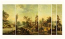 Flemish School-Liège (18), Decorative panel (+ 5 others; suite of 6, various sizes)