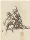 Peter Anton von Verschaffelt, Two putti with a goat