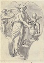 Peter Anton von Verschaffelt, Two cartouches with Vestals in procession (+ A cartouche with a nymph attended by putti; 2 works)