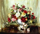 Vernon Ward, Still life with flowers