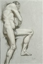 August Wilhelm Goebel, Male nude study