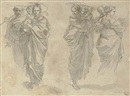 Giuseppe Cades, Three studies of the Holy Family