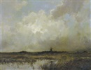 Dorus Arts, Windmill in a landscape