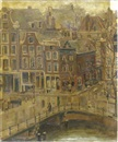 Josephine Margaretha Faber, A view of the Singel, Amsterdam