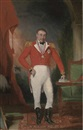 Anglo-Indian School (18), Portrait of General Sir John Doveton, G.C.B. (1768-1847), small full-length, in military uniform, his left hand resting on books, a landscape beyond
