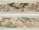 Japanese School (18), Hachiman no goengi - Legends of Hachiman Shrine (pair)