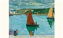 René Quillivic, Le port d'Audierne (+ another; pair)
