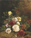 Euphémie Thérèse (Didiez) David, Roses on a forest floor