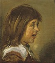 Circle Of Frans Hals the Elder, Portrait of a child, bust-length, in profile