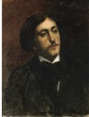 Bernard Joseph Artigue, Portrait of a gentleman, bust-length, in a black coat with white shirt