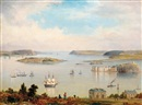 Attributed To George Atkinson, A view of Cork Harbour