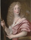 John Baptist Gaspars, Portrait of Victor Amedee, Duke of Savoy, dressed as Apollo