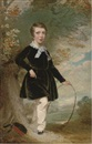 William Smith, Portrait of Sir James Dalrymple-Hay as a boy, beside a tree, with a hoop in his left hand
