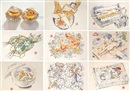 Makoto Aida, Edible artificial girls, Mi-Mi Chan (10 works, incl. 2 mixed media sculptures, 12x12x25)