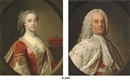 Circle Of John Theodore Heins Sr., Portrait of an Earl (The Earl of Orford?), half-length, in peers robes (+ Portrait of a Countess, (The Countess of Orford?), in peeress's robes, a coronet on a ledge beyond; pair)