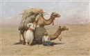 Pasquale Ruggiero, Two Arabs resting with their camels