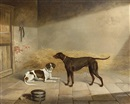 George Jackson, Two dogs in an interior