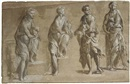Benvenuto Tisi da Garofalo, Four studies of Saint John the Baptist holding a lamb