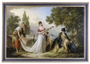 German School-Southern (19), A romantic allegorical scene