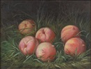 Peter Baumgras, Still life with peaches