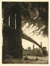 Horace Devitt Welsh, Brooklyn Bridge, twilight