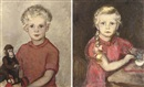 Lizzy Ansingh, Portrait of a Hazebroek child (+ another, similar; 2 works)