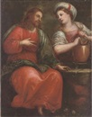 Italian School-Genoa (18), Christ with the woman of Samaria