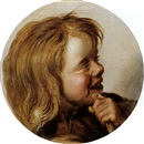 Attributed To Frans Hals the Elder, Lachendes Kind mit Flöte