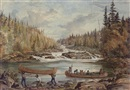 William Wallace Armstrong, Portage below rapids