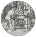 Monogrammist P V L, Men playing a game of dice