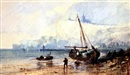 Paul Marny, Fishing boats on a beach