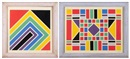 Lazlo Kadlacskik, Untitled geometrics (+ another, lrgr.; 2 works)