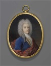 Jacques-Antoine Arlaud, A young gentleman, in blue coat with gold buttons, yellow waistcoat with gold buttons