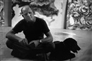 Tony Vaccaro, Pollock and his dog relax, East Hampton