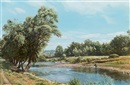Arthur Weaver, Fishing on the River Usk, near Abergavenny