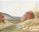 Palmer Chrisman, Untitled: Autumn stream in Texas