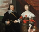 Anglo-Dutch School (17), Portrait of a gentleman and his wife