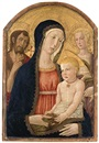 Benvenuto di Giovanni, The Madonna and Child with a pomegranate with Saint John the Baptist and Saint Catherine of Alexandria