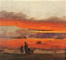 Carl Hoerman, Sunset on the gulf of California