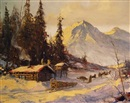 Ellen Henne Goodale, Alaskan cabin and dogsled