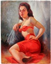 Robert Rukavina, Woman in red two piece sarong