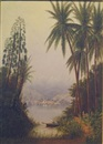 Cleveland Rockwell, Tropical river landscape (The Magdalena river, Columbia ?)