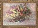 Jules Félix Ragot, Chrysanthemums in a basket